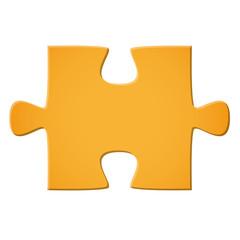 Puzzleteil gelb