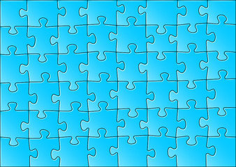fertiges blaues Puzzle