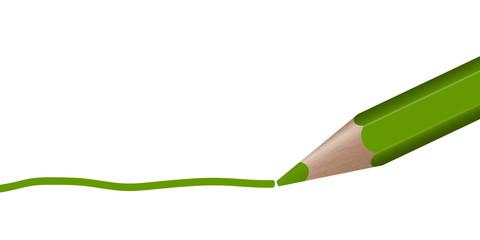 grüner Stift zieht Linie