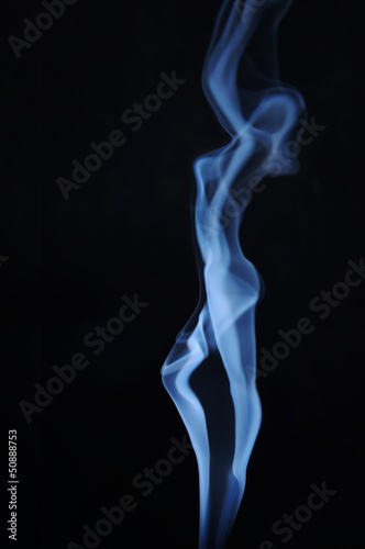 Fuming image of beautiful lady made of smoke