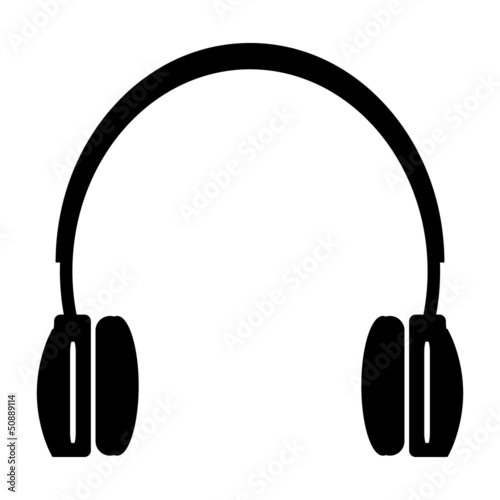 headphones. vector