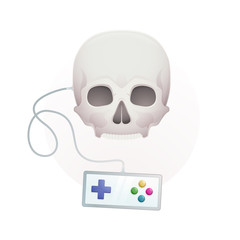 skull with a gamepad