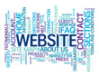"""WEBSITE"" Tag Cloud (contact us faq help categories sections)"