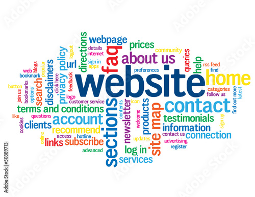 """WEBSITE"" Tag Cloud (categories sections contact us faq home)"