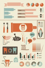 teeth care infographics with icons banners