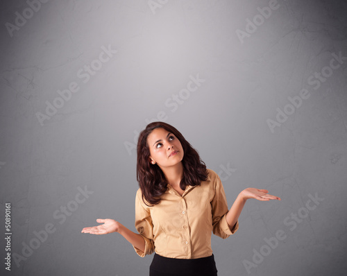 beautiful young lady juggling with copy space