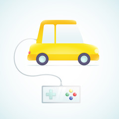car with a gamepad