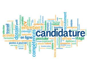 """Nuage de Tags """"CANDIDATURE"""" (candidat emploi postuler offres)"""