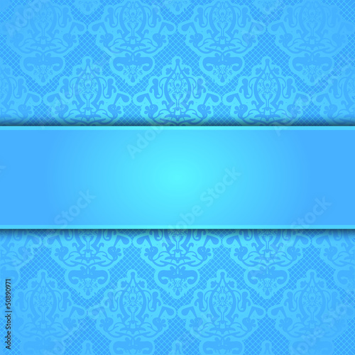 Vector blue lace frame