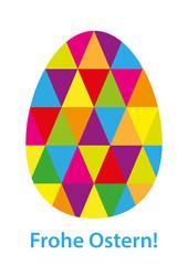 Ei bestehend aus Dreiecken