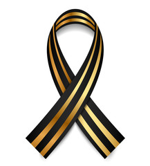 Vector black and gold St. George Ribbon