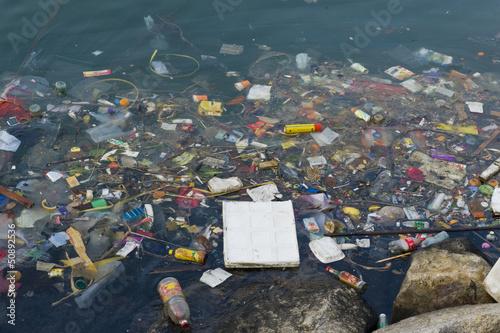Leinwandbild Motiv Polluted waters