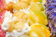 Cookies With Whip Cream And Fruits