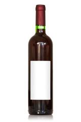 Unlabeled wine bottle