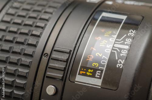 Focusing Distance On A Modern Camera Lens