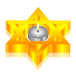 Vector illustration of candle & star of David