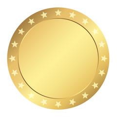 Vorlage Gütesiegel - gold mit Sternen