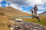 Fototapety motocross in alta montagna