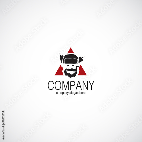Man in hat ushanka business company logo