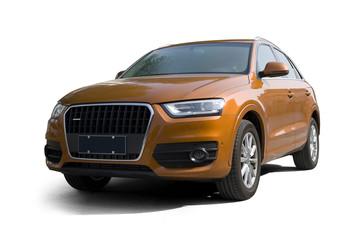 The orange SUV