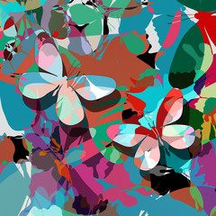 Butterfly abstract design