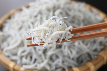 boiled whitebait, japanese food