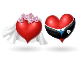 sposi cuori