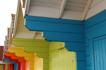Beach Huts, Scarborough, Yorkshire, England