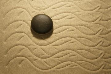 Zen Wellen aus Sand