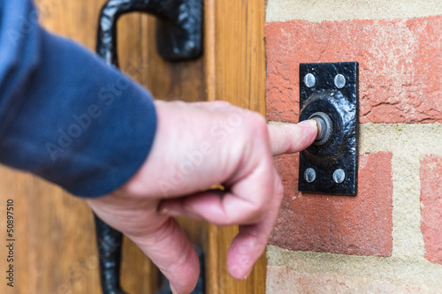 Leinwandbild Motiv Doorbell