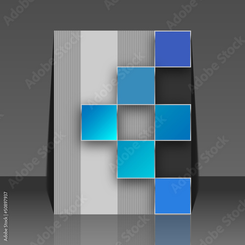 Seamless blocks vector background - flyer design