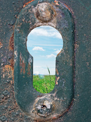 keyhole and meadow
