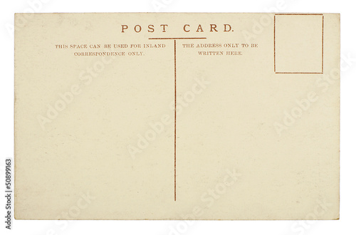 Blank Postcard Isolated on White Background