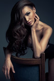 Fototapety Vogue style photo of very delicate brunette woman