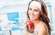 Woman With Apple, At Fitness C...