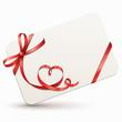 Gutscheinkarte mit Herzschleife