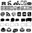 Phone, envelope, speech, communications icons