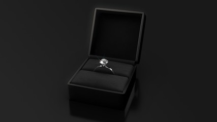 Diamond Ring with Black Box