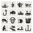 Set Of Icons. Fishing