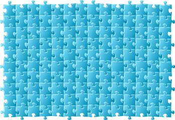 Vektor Illustration eines blauen Puzzels