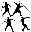 Javelin Thrower Silhouette