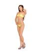 beautiful woman in bikini on high heels
