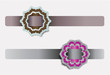 Vector banners with floral ornaments