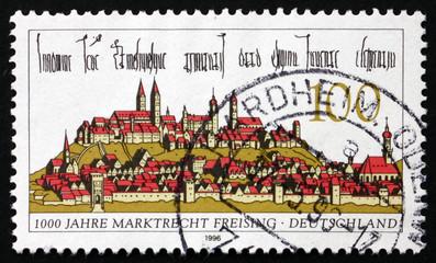 Postage stamp Germany 1996 Freising, Town in Bavaria