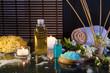 schiuma e candele e diffusore di essenze