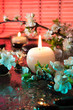 fiori di mandorla con candela - cromoterapia