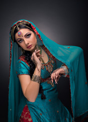 A beautiful Indian princess in national dress