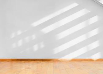 Empty room with sun light shadows