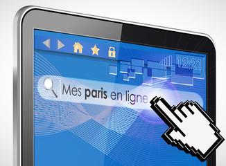 tablette tactile rechercher : mes paris en ligne