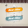 Vintage vector background with place for your text.